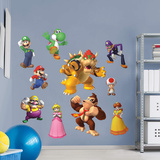 Nintendo Super Mario Characters RealBig Collection Wall Decal