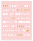 Hold Her a Little Longer Pink Wall Plaque Art Wood Sign