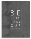 Be Courageous Typography Wall Plaque Art by EtchLife Wood Sign