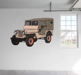 Jeep Military Willy RealBig Wall Decal