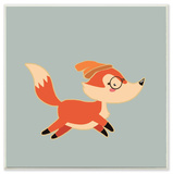 Hipster Fox with Beanie Wall Plaque Art Wood Sign