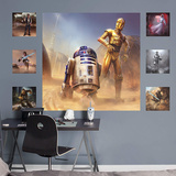 Star Wars C-3PO and R2-D2 Moment's Edge RealBig Mural Wall Mural