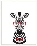 Hipster Zebra Illustration Wall Plaque Art Wood Sign