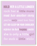 Hold Her a Little Longer Purple Wall Plaque Art Wood Sign
