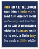 Hold Him A Little Longer Navy Wall Plaque Art Wood Sign