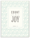Count It All Joy Wall Plaque Art by EtchLife Wood Sign