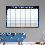 Generic 2016 12-Team Fantasy Football Dry Erase Draft Board RealBig Wall Decal