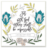 Nothing Shall Be Impossible Wall Plaque Art by EtchLife Wood Sign