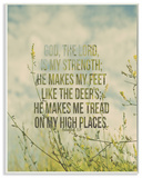 Tread On My High Places Meadow Wall Plaque Art by EtchLife Wood Sign