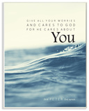 Fight for You Give All Your Worries Wall Plaque Art by EtchLife Wood Sign