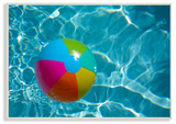 Beach Ball Pool Time Wall Plaque Art Wood Sign