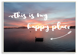 This Is My Happy Place Lakeside Wall Plaque Art Wood Sign