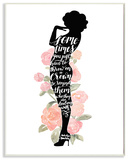 Iconic Silhouette Watercolor Roses Marilyn Wall Plaque Art Wood Sign