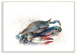 Rainbow Crab Wall Plaque Art Wood Sign