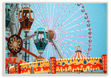Ferris Wheel Tilt A Whirl Photography Wall Plaque Art Wood Sign