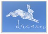 Dreamer Cloud Bunny Wall Plaque Art Wood Sign