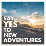 Say Yes To New Adventures Typography Wall Plaque Art Wood Sign