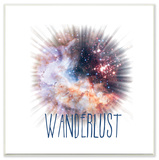Wanderlust Galaxy Wall Plaque Art Wood Sign