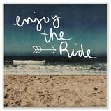 Enjoy the Ride Beach Scene Wall Plaque Art Wood Sign