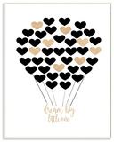 Dream Big Little One Hot Air Balloon Black and Gold Wall Plaque Art Wood Sign