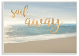 Sail Away Seascape Wall Plaque Art Wood Sign