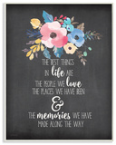 The Best Things in Life Watercolor Floral Wall Plaque Art Wood Sign