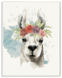 Watercolor Llama Del Rey Wall Plaque Art Wood Sign