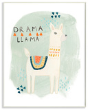 Drama Llama Wall Plaque Art Wood Sign