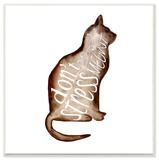 Don't Stress Meowt Watercolor Kitty Wall Plaque Art Wood Sign