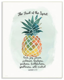 The Fruit of the Spirit Multicolored Pineapple Wall Plaque Art Wood Sign