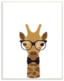 Graphic Hipster Giraffe Wall Plaque Art Wood Sign