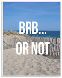 BRB Or Not Beach Escape Wall Plaque Art Wood Sign