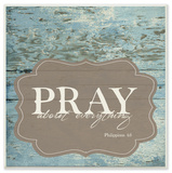 Pray About Everything Wall Plaque Art by EtchLife Wood Sign