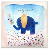 Party Animal Elephant Wall Plaque Art Wood Sign
