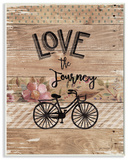 Enjoy the Journey Bicycle and Flowers Wall Plaque Art Wood Sign
