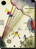 Clear Connection Stretched Canvas Print by Wassily Kandinsky