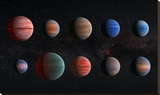 Artist Impression of Hot Jupiter Exoplanets - Unannotated Stretched Canvas Print