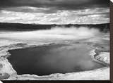 Fountain Geyser Pool, Yellowstone National Park, Wyoming, ca. 1941-1942 Stretched Canvas Print by Ansel Adams