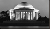 Jefferson Memorial, Washington, D.C. - Black and White Variant Stretched Canvas Print by Carol Highsmith