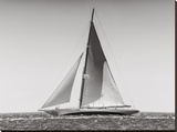 Classic racing sailboat Stretched Canvas Print by  Anonymous