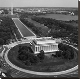 Aerial of Mall showing Lincoln Memorial, Washington Monument and the U.S. Capitol, Washington, D.C. Stretched Canvas Print by Carol Highsmith