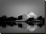 Jefferson Memorial, Washington, D.C. Number 2 - Black and White Variant Stretched Canvas Print by Carol Highsmith