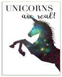 Galaxy Print Unicorns Are Real Wall Plaque Art Wood Sign