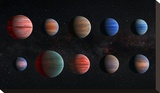 NASA Artist Impression of Hot Jupiter Exoplanets - Unannotated Stretched Canvas Print