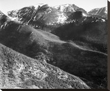 Hills and mountains, in Rocky Mountain National Park, Colorado, ca. 1941-1942 Stretched Canvas Print by Ansel Adams