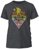 Power Rangers- Mighty Morphin Badge T-shirt
