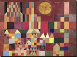 Castle and Sun (detail) Stretched Canvas Print by Paul Klee