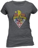 Juniors: Power Rangers- Mighty Morphin Badge T-Shirt