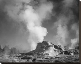 Castle Geyser Cove, Yellowstone National Park, Wyoming, ca. 1941-1942 Stretched Canvas Print by Ansel Adams