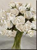 Bouquet Blanc II Stretched Canvas Print by Leonardo Sanna